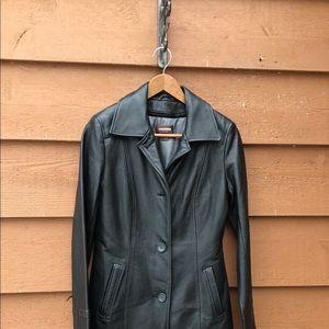 Danier leather zipper lined jacket